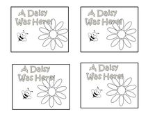 Girl Scout Daisy GS Week idea  Random Act of Kindness  leave a note  Petal Activity