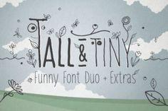 Tall & Tiny Font Duo - Creative Fabrica