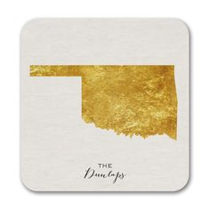 Bright State - Coasters - Oklahoma. Available at Persnickety Invitation Studio.