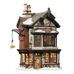 Department-56-Dickens-Village-EBENEZER-SCROOGES-HOUSE-NIB-FREE-SHIPPING