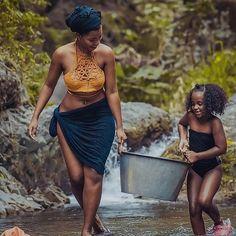 Beautiful African Women, African Beauty, Beautiful Black Women, African Fashion, Black Women Art, Black Girls, Village Photos, Black Goddess, Family Photo Outfits