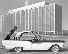 Ford offered several models with V-8 power, including this 1957 Fairlane 500 Skyliner retractable convertible.