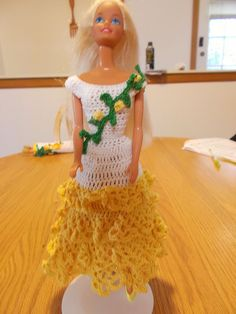 CROCHET BARBIE FASHION-CHANGE ABOUT #2-DOLL INCLUDED #ICSORIGINALDESIGNS