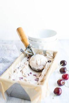 Bourbon Soaked Cherry Vanilla Bean Ice Cream #Vegan | Vanilla And Bean