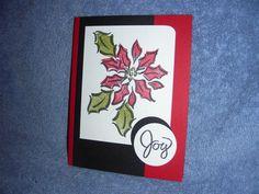 Stampin Up Pretty Poinsettia Christmas Joy Holiday
