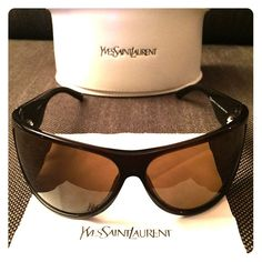 Yves Saint Laurent Sunglasses Model6139 Selling my YSL sunglasses! 💋 MODEL # YSL 6139 COLOUR # 806P0. Made in Italy. This style is no longer available in stores and is good for petite faces (has a shorter frame arm). The color is a rich brown that looks darker than what the photos represent.  60 x 12 x 105 // lens diameter x bridge width x arm length (mm) Yves Saint Laurent Accessories Sunglasses
