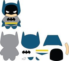 Batman Kawaii Patch Plushie by on DeviantArt 3d Cuts, Sewing Crafts, Sewing Projects, Batman Party, Plush Pattern, Felt Patterns, Marianne Design, Finger Puppets, Felt Toys