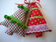 Fabric Christmas Ornaments Christmas Tree by ScarlettsCozyCottage, $9.50