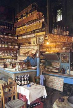 Photos of 39 Traditional Coffee houses and a barber shop on Lesvos island in Greece by Jelly Hadjidimitriou Myconos, Greek Beauty, Greek House, Coffee Places, Rustic Restaurant, Greek Culture, Greek Isles, Greece Travel, Crete