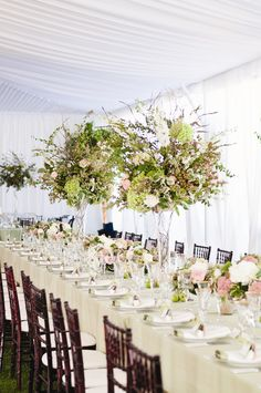 Tall Textured Centerpieces   Thierry Chatrel   Angie Silvy Photography   TheKnot.com
