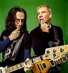 Geddy Lee and Alex Lifeson-Rush. Great Bands, Cool Bands, Rush Concert, A Farewell To Kings, Rush Band, Alex Lifeson, Geddy Lee, Neil Peart, All About Music