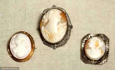 Three Cameo Brooches, 1900-1915, Augusta Auctions, MAY 13th & 14th, 2014, Lot 66