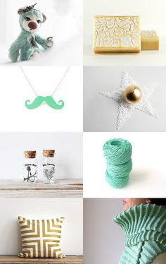 Mint and vanilla gift guide--Pinned with TreasuryPin.com