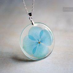 Blue hydrangea in resin. $35 from Goodthings88 on Etsy