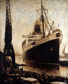 Ryan Mutter--Queen Mary done in oil