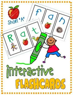 """Mini Interactive Student Flashcards (Short """"A""""); Students create their own mini segmenting flashcards; practice letter/sound correspondence (RF.K.2d) #phonics"""