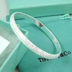 Cheap Tiffany & Co Elegant Tiffany Crystal Sand Bangle For Sale