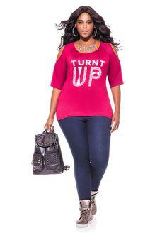 b805c92a8f0bf Ashley Stewart Web Exclusive Turnt Up Top