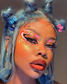 "ᴄɢ on Twitter: ""babenexttdoor… "" Edgy Makeup, Makeup Eye Looks, Eye Makeup Art, Cute Makeup, Makeup Goals, Pretty Makeup, Skin Makeup, Makeup Inspo, Makeup Inspiration"