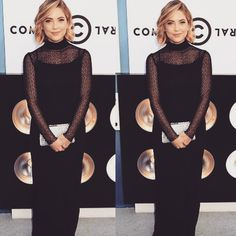 Ashley's black dress is so elegant on her. | Pretty Little Liars