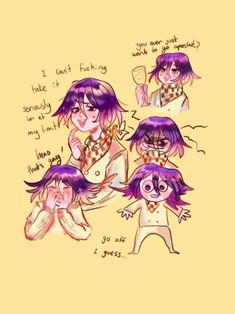 Danganronpa Memes, Danganronpa Characters, Ouma Kokichi, Nagito Komaeda, Drawing Reference Poses, Wow Art, Manga Games, Stupid Memes, Cute Art