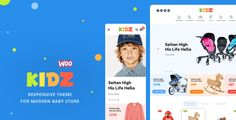 KIDZ v1.3 is Modern Retina ready Responsive WooCommerce Theme for Baby Stores.  KIDZ v1.3 WordPress Theme Free Download Download  Features  Responsive layouts with retina support Modern minimalist design Strong focus on typography, usability and overall user-experience Unique Icons...