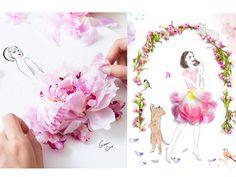 grace ciao ilustrações de moda com flores não combina blog de moda