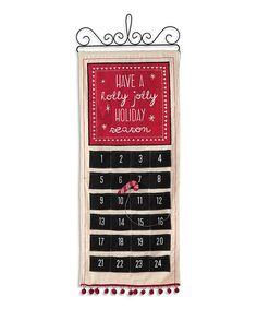 Another great find on #zulily! Holiday Countdown Calendar Wall Décor #zulilyfinds