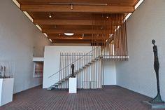 Louisiana Museum of Modern Art, Humlebæk, Denmark Louisiana Museum, Corridor Design, Beautiful Stairs, Stair Detail, Design Museum, Museum Of Modern Art, Interior Lighting, Copenhagen, Modern Architecture