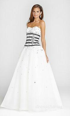 A-Line Satin Sweetheart Long Dress Charm86522
