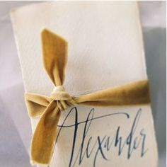 velvet ribbon, vintage paper, beautiful script