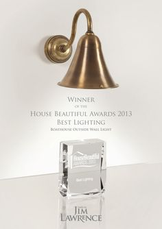 #JimLawrence very proudly won gold at the #HouseBeautifulAwards with their #Boathouse #OutdoorLight