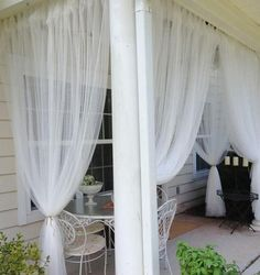 56 Trendy Ideas For Small Pergola Diy Outdoor Curtains Pergola Design, Balcony Design, Back Patio, Backyard Patio, Diy Patio, Balcony Curtains, Ikea Curtains, Porch With Curtains, Outdoor Patio Curtains