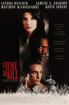 "A Time to Kill (1996) Vintage One-Sheet Movie Poster - 27"" x 40""- This is a vintage one-sheet movie poster from 1996 for A Time To Kill starring Sandra Bullock, Samuel L. Jackson, Matthew McConaughey, Kevin Spacey, Oliver Platt, Charles Dutton, Donald Sutherland, Kiefer Sutherland, Ashley Judd and Chris Cooper. Joel Schumacher directed the courtroom thriller based on the novel by John Grisham.  The 20-year-old movie poster measures 27""x40"" and is double-sided."