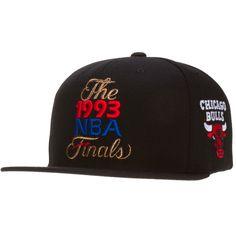 cbaf4eceb9b Chicago Bulls Black 1993 NBA Finals Snapback by Mitchell  amp  Ness  Chicago   Bulls