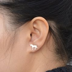 Unicorn Earring Studs Fairytale Earring Studs In by huiyitan