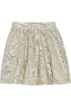 OMG!!!! THIS IS THE SKIRT I TRIED ON, COULDN'T AFFORD AND HAVE SINCE BEEN SEARCHING FOR!!!!!!    Alice + Olivia - Jaylyn metallic mesh mini skirt