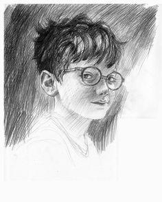 Jim Kay a également posté un croquis d'Harry Potter lui-même sur son site web personnel. | Voici les premières images de l'édition entièrement illustrée des romans « Harry Potter »