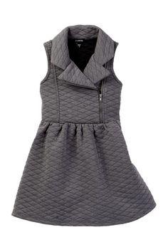 Quilted Moto Jacket Dress (Toddler & Little Girls)