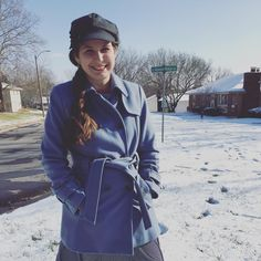The Modest Mom - Winter hat and coat! Weekly link up!
