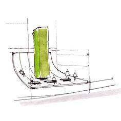 Architecture Croquis Dessin Esquisse Croquis Architecture, Architecture Design, Utility Pole, Metal Buildings, Sketch Drawing, Architecture Layout, Architecture
