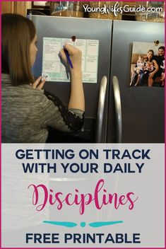 Great resource! Getting on track with your daily disciplines