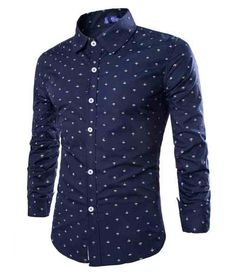 Navy Anchor Button Up