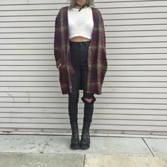Nevermind cardigan + stevie top + via jeans + so called boot fashion grunge, Grunge Outfits, 90s Fashion Grunge, Mode Outfits, Look Fashion, Teen Fashion, Fall Outfits, Winter Fashion, Fashion Outfits, Fashion Clothes