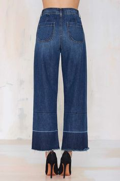 Nasty Gal Denim - Mad Crops Wide Leg Jean - Denim | Clothes | All | Bottoms | All Denim | Nasty Gal Denim