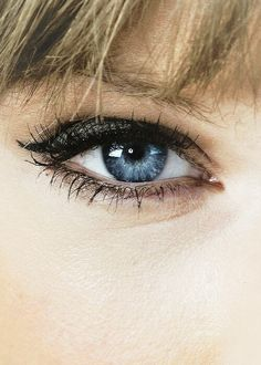 A scientist said that Taylor's eye's are rare because they are electric blue with a tint of black.