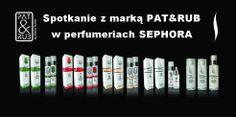 Zapraszamy na bezpłatne konsultacje i porady kosmetyczne, w czasie których można porozmawiać o naszych kosmetykach naturalnych PAT & RUB oraz eko pielęgnacji ciała i twarzy. W kwietniu można spotkać się z nami w tych perfumeriach SEPHORA:  Sephora Mikołów (ŚLĄSK): 4-5 kwietnia 2014 r. w godz. 14-20 Sephora Arkadia (WARSZAWA): 3-5 kwietnia 2014 r. w godz. 14-20  #konsultacje #kosmetyki #porady #sephora
