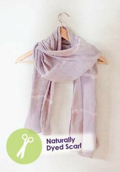 Experiment Dying with a DIY Naturally Dyed Scarf