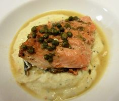 Easy,fast, and light salmon piccata