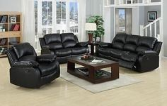 Valencia leather sofas made from real black, white and brown leather. The chairs recline into three positions and are easy to fit into small tight spaces Sectional Sofa With Recliner, Leather Sectional Sofas, Leather Recliner, Recliners, Inexpensive Furniture, Outdoor Furniture Sets, Rustic Furniture, Luxury Furniture, Valencia